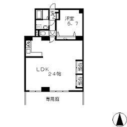 芳川コーポ南棟[2階]の間取り