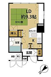 ラ・ヴィ湯沢[2階]の間取り