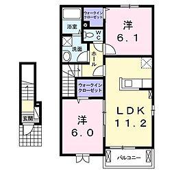 ラ ル−チェA[0203号室]の間取り