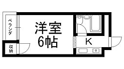 バードヒル古川橋[0205号室]の間取り