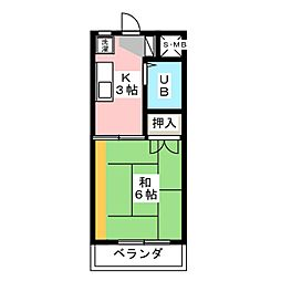 辻村マンション[2階]の間取り