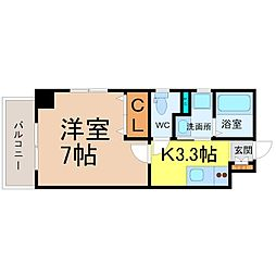 ラ・フォンテーヌ大須[4B号室]の間取り