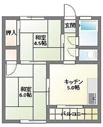 コーペ藤[1階]の間取り