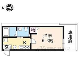 noa東寺駅 1階1Kの間取り