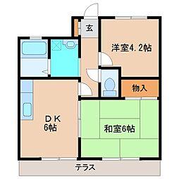 レジデンツオグラ[1階]の間取り