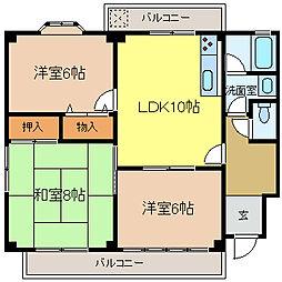 サンライフマンション[201号室]の間取り