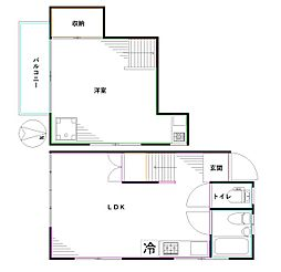 フォレスト新高円寺 2階1LDKの間取り