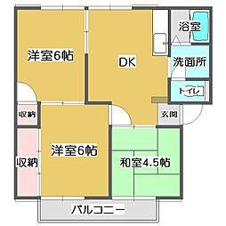 エスポワール B[1階]の間取り