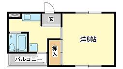 京口アパート[2階]の間取り
