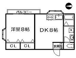 東京都杉並区下井草3丁目の賃貸アパートの間取り