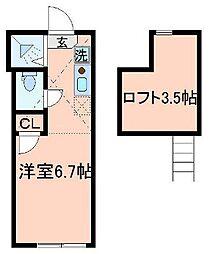 東京都北区田端5丁目の賃貸アパートの間取り