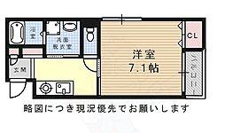 Villa Urbana Sakuradai 1階1Kの間取り