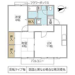 キャッスル寺田 B棟[105号室号室]の間取り