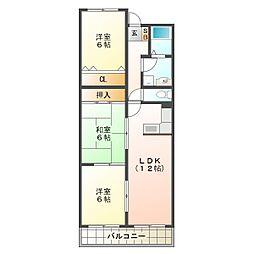 ベルファミーユ桃山台[4階]の間取り