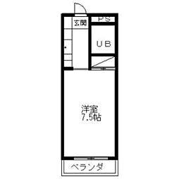 静岡県三島市若松町の賃貸マンションの間取り