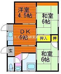 [一戸建] 岡山県岡山市東区藤井 の賃貸【/】の間取り