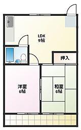 パークイワサキ[2階]の間取り