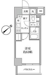 東京都豊島区南池袋4丁目の賃貸マンションの間取り