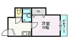 アーバン千林B棟[2階]の間取り