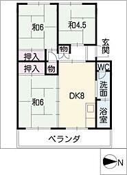 コーポ須ヶ口[1階]の間取り
