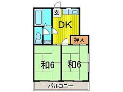 川田ハイツ[2階]の間取り