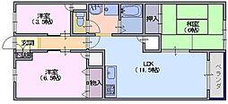 シャトー三島[307号室]の間取り