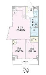 中新井サンライトマンション[402号室]の間取り