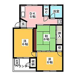 誠峰マンション[4階]の間取り