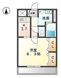 愛知県名古屋市西区大野木1丁目の賃貸マンションの間取り
