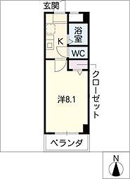 パレスヤマハン[1階]の間取り