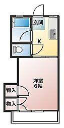 タジマコーポ[2階]の間取り
