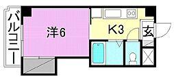 エトワール福音寺[403号室]の間取り