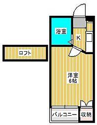 ジュネパレス松戸第707[1階]の間取り