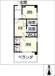 城西FUJIマンション[3階]の間取り