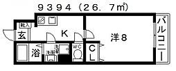 EXハイツ北新町[307号室号室]の間取り