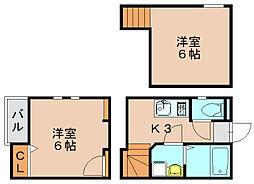 クレオ箱崎八番館[2階]の間取り