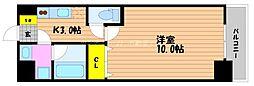 岡山電気軌道清輝橋線 東中央町駅 徒歩5分の賃貸マンション 1階1Kの間取り