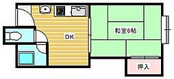 姫松マンション[2階]の間取り