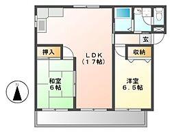 赤坂コーポ南棟[3階]の間取り
