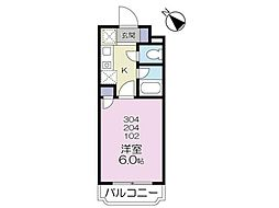 アザレア恋ヶ窪[1階]の間取り