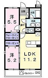 あざみ野グランカーサ II番館[0203号室]の間取り