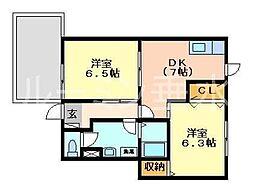 ミレニアムカーサA棟[101号室]の間取り