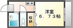 香川県高松市西ハゼ町の賃貸アパートの間取り