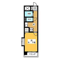 リバシィ藤里[1階]の間取り