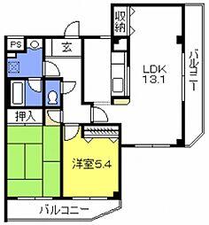 ルースコート戸田[301号室号室]の間取り