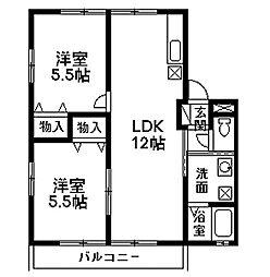 エルハイムC-1[2階]の間取り