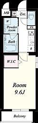 仮称:御園1丁目マンション[206号室]の間取り