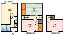 南海高野線 狭山駅 徒歩10分の賃貸テラスハウス