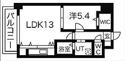 愛知県名古屋市中区丸の内1丁目の賃貸アパートの間取り