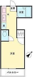 東京都多摩市連光寺2丁目の賃貸アパートの間取り